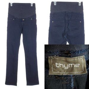 THYME Maternity Jeans Full Panel Slim Fit Stretch